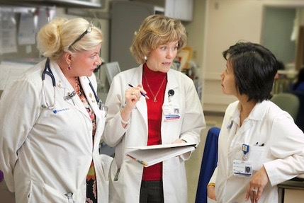Duke Cancer Center Raleigh lung cancer team providers discuss care.