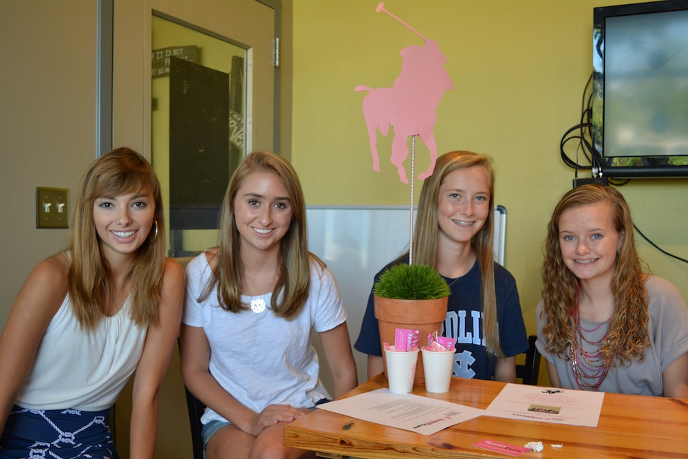 Abbie Green, 18; Lily Sykes, 15, founder; Sarah Replogle,15; and Georgia Vernal, 16. The young women all attend Ravenscroft High School in Raleigh.
