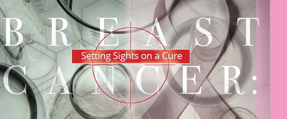 Breast cancer setting sights on a cure illustration