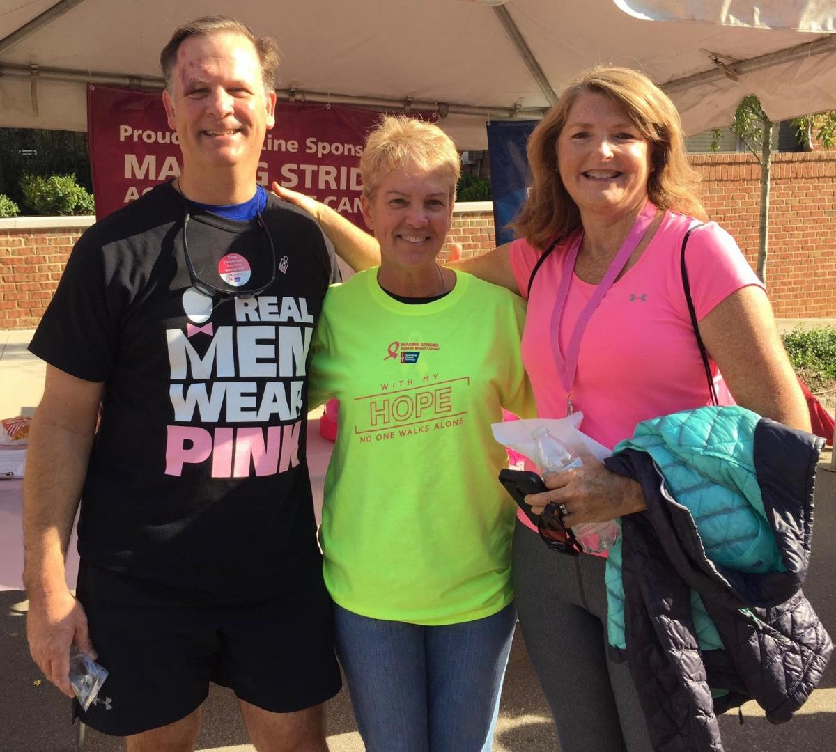 Angie's oncologist, P. Kelly Marcom, MD, joins Duke Cancer Institute colleagues at Making Strides 2016.