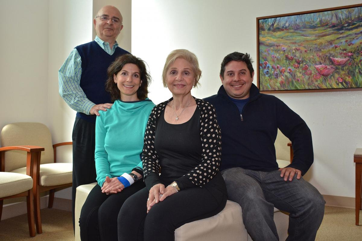 Julie Cardillo poses with her father, Mark, and mother, Lois, and her brother, David. Mark and Lois Cardillo live in New York City. David Cardillo resides in Philadelphia, Pennsylvania.