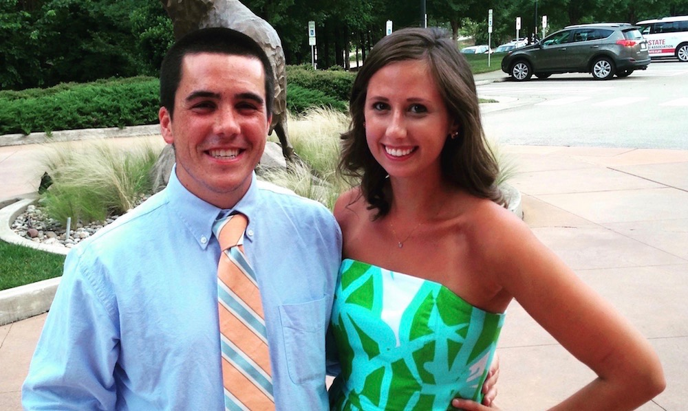 Sasha Zabavin of Caring House and her fiancé Billy Zarzour of Duke Athletics