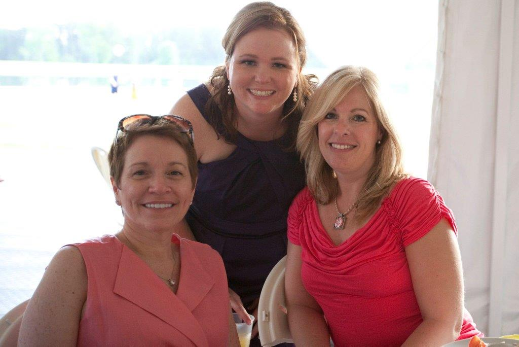 Bethany Clements (left) with fellow Duke oncology nurses Kim Ward (middle) and Lynn Harrison (right).