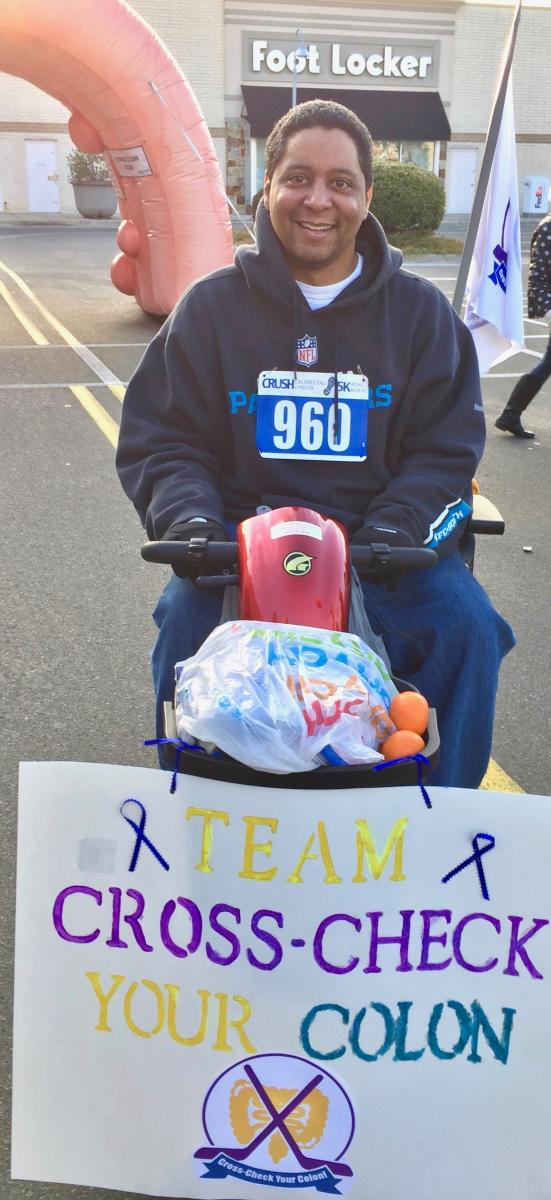 Charlemagne Asekhuano is up bright and early to CRUSH colorectal cancer!