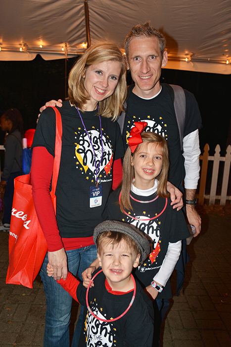 Danielle Brander, MD, and her family visit the DCI Glam Station while at last year's Light The Night walk in Cary, North Carolina.
