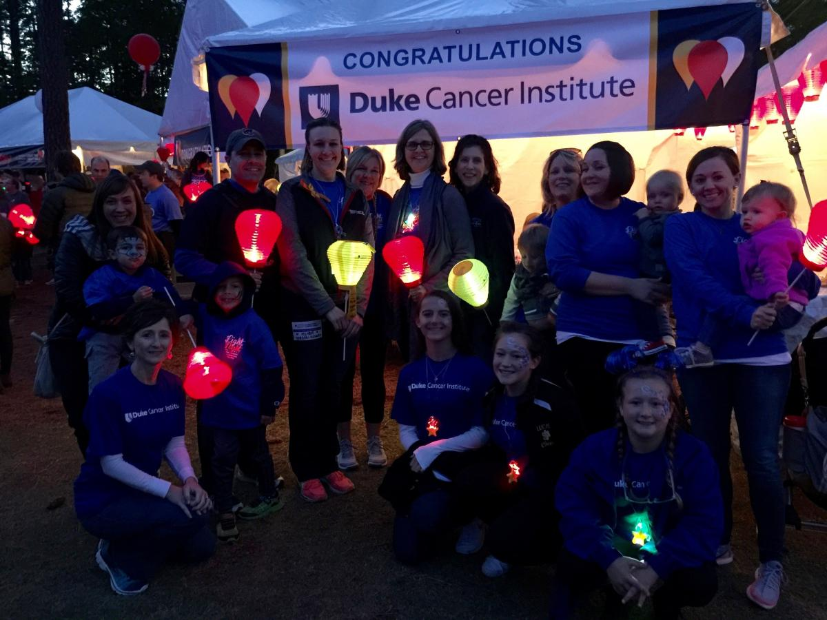 DCI's Light the Night fundraising team and their families