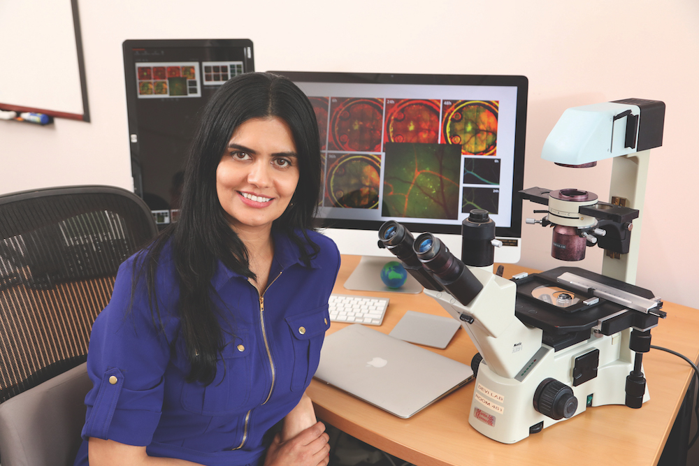 Gayathri Devi, PhD (photo by Ken Huth)