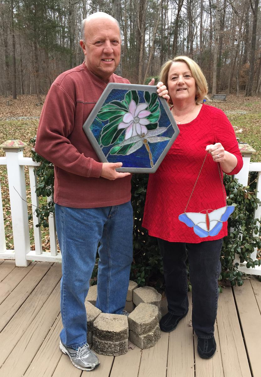 Bryant and her husband, Bill, enjoy crafting stained glass together. The pair has plans to take some advanced classes once she is retired.