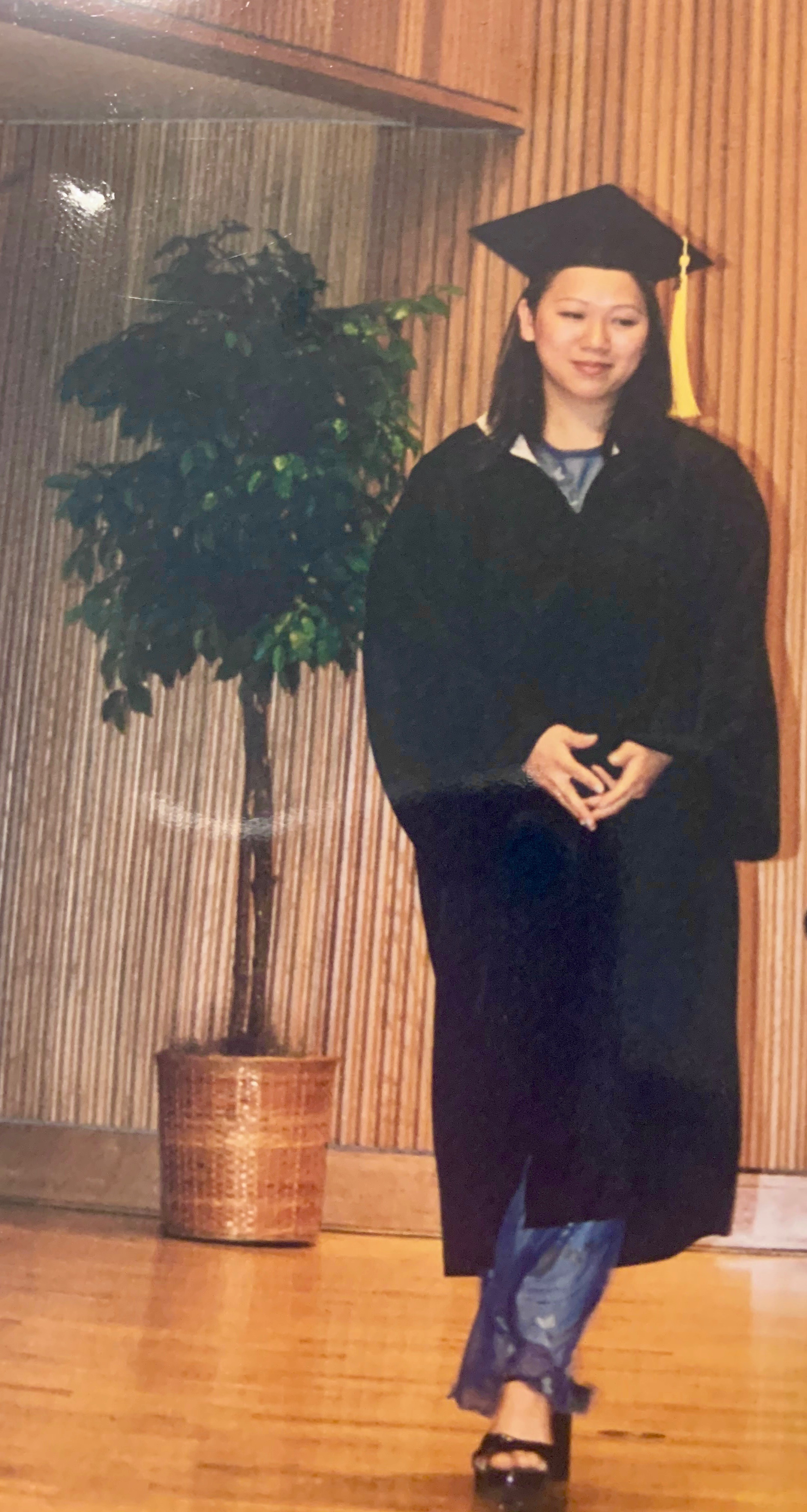 Phuong Huynh at her own graduation