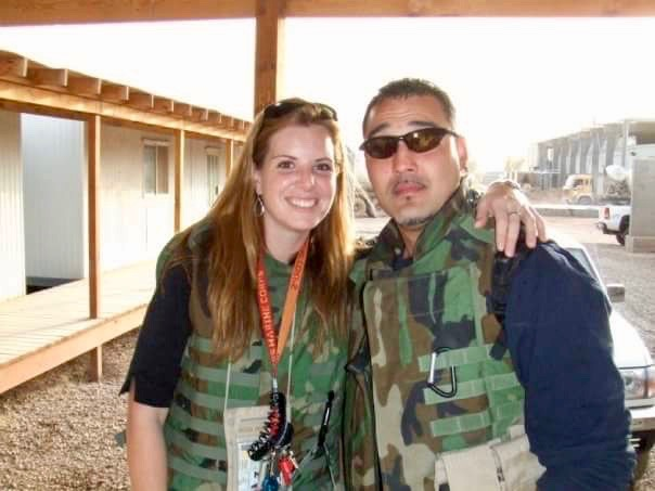 Christy and Tony Leonard in Iraq