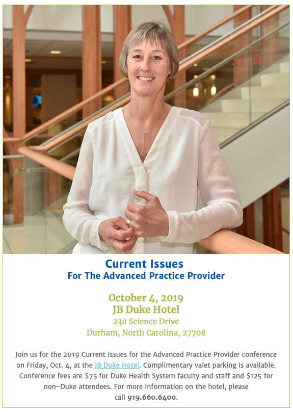 Current Issues for the Advanced Practice Provider 2019