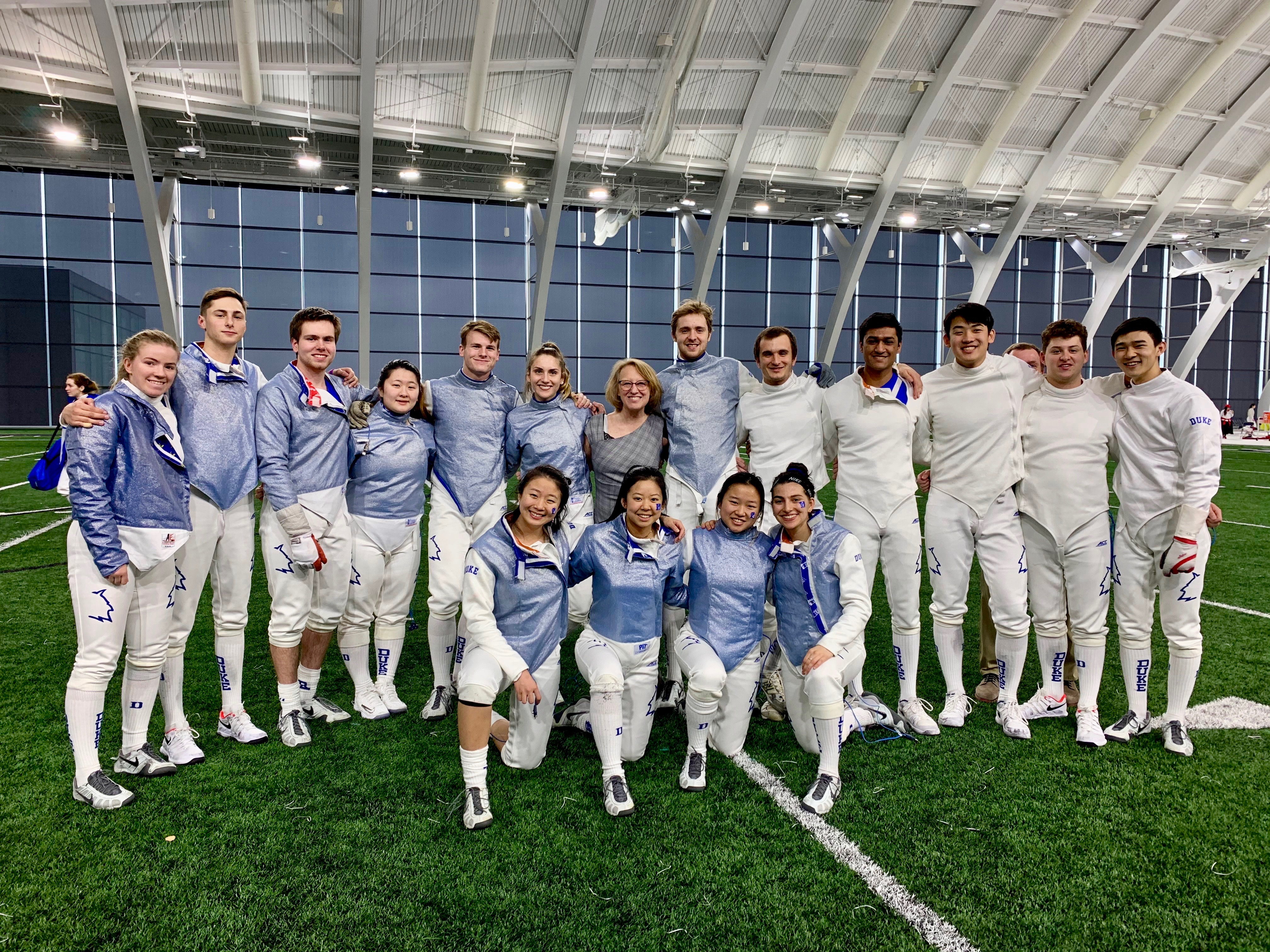 Duke Fencing Team at Northwestern University 2020