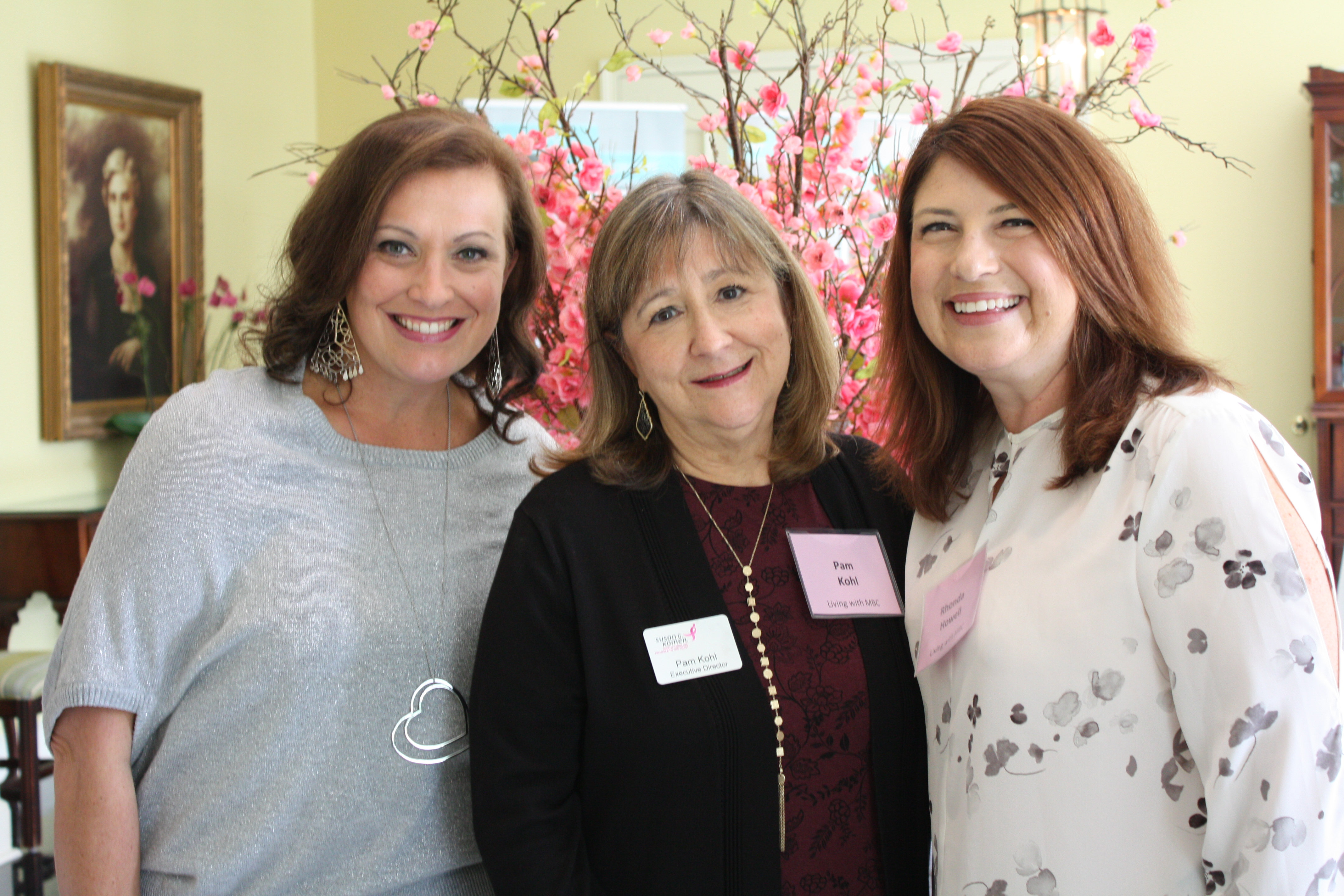 Metastatic Breast Cancer Survivors: Katrina Cooke, Pam Kohl, and Rhonda Howell, Oct. 2018
