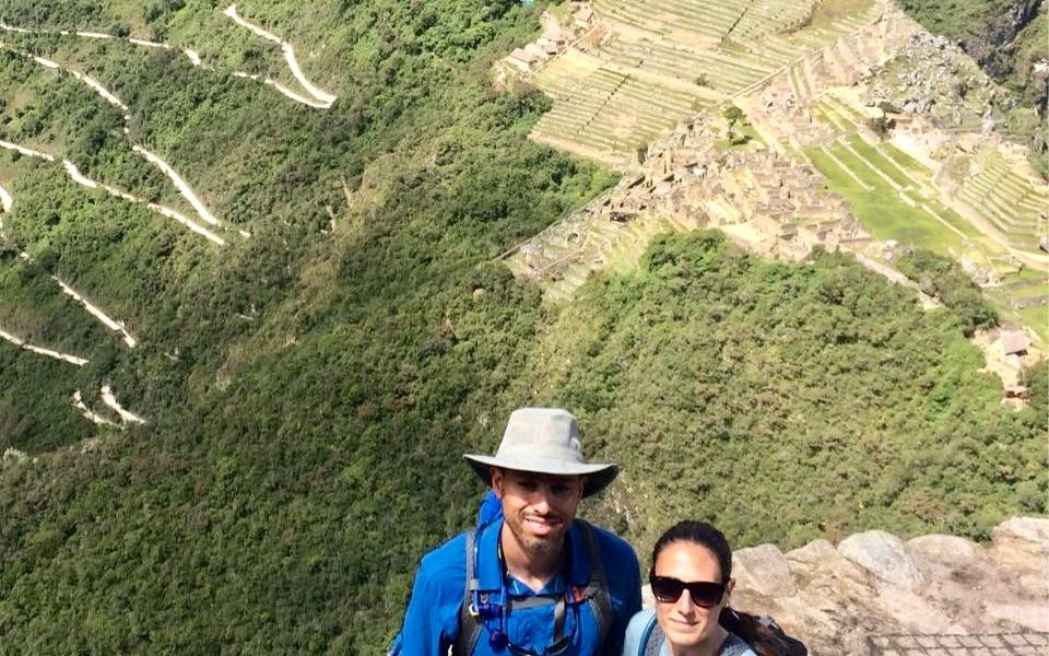 Nestor and Ashley at Machu Picchu