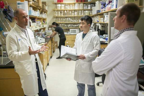 Peter Fecci, MD, PhD, in the lab