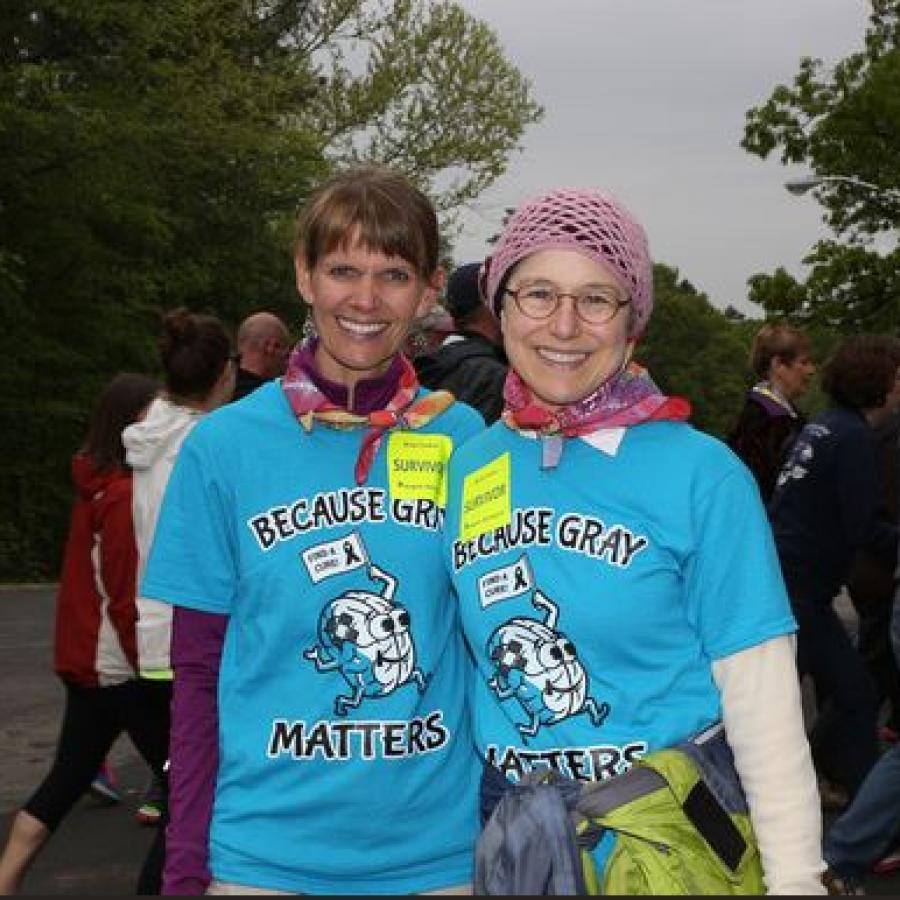Jodi Novak (left) and Sally Grant (right) at the 2016 Angels Among Us 5K and Family Fun Run.