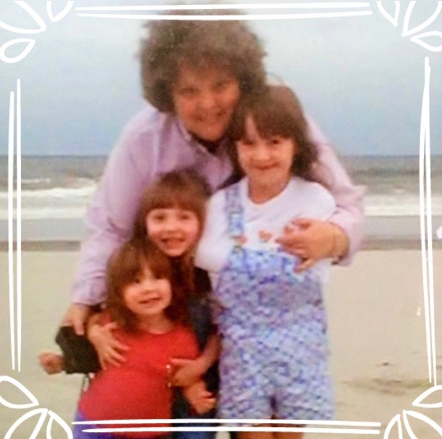 Charlotte Miller embraces her grandchildren on the beach; one of her favorite (though dated) photos. Her oldest granddaughter was just recently married and though Miller was unable to attend the wedding for health reasons, she watched through a live feed to her  phone.