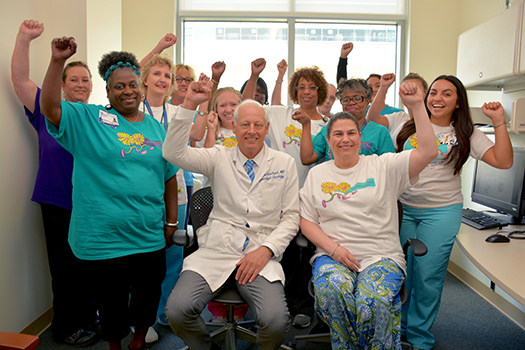 Led by Andrew Berchuck, MD, Team Duke Cancer Institute is ready to step out in support of the Gail Perkins Memorial Ovarian Cancer Walk.