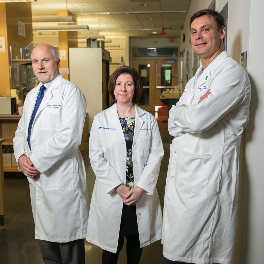 The Duke Cancer Institute's Patierno/George/Freedman lab is led by Steven Patierno, PhD, Jennifer Freedman, PhD, and Daniel George, MD.