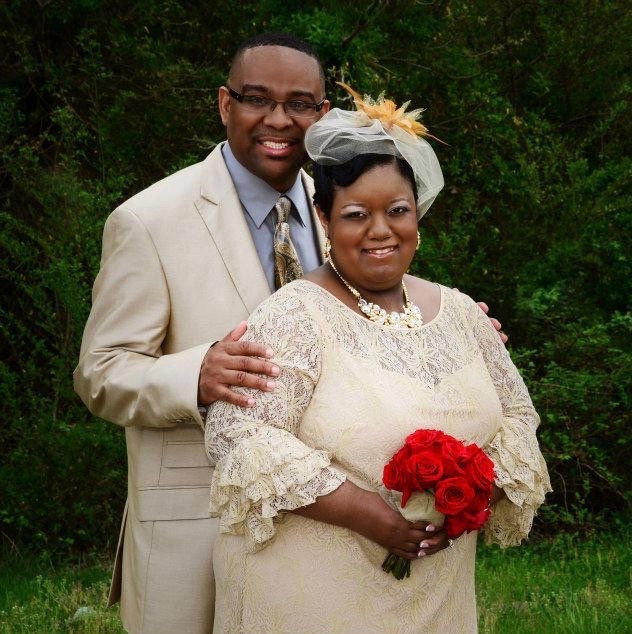 Bonita Holliday and Johnnie Guy on their wedding day, June 1, 2013.