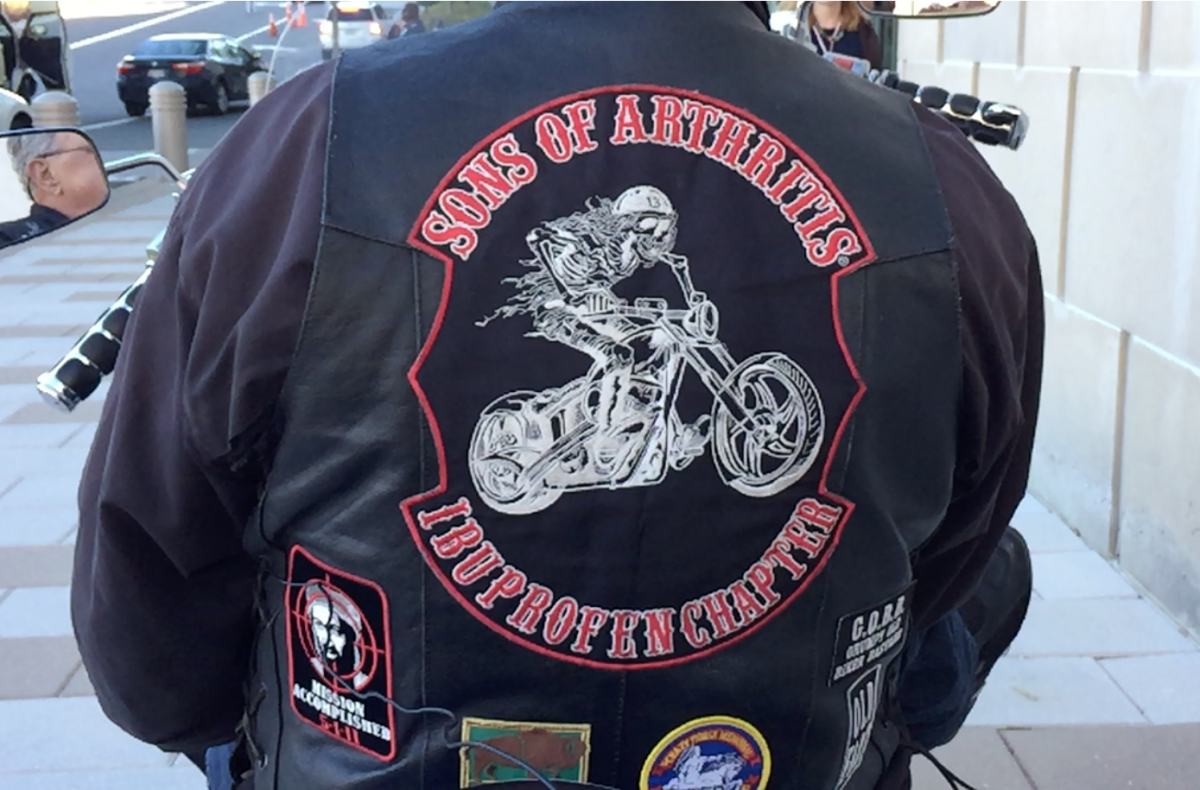 "No stranger to humor, Knowles playfully admits that like most bikers, he is a member of a motorcycle club (MC). ""In fact,"" he says with a chuckle, ""I'm the president of the Sons of Arthritis, Ibuprofen Chapter, of which we have six members."
