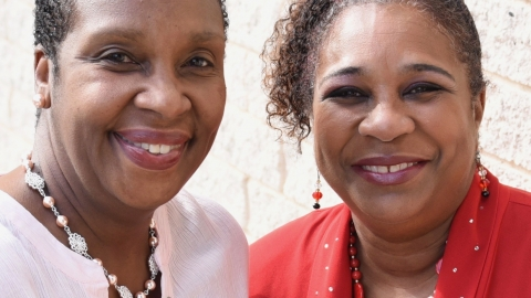 Breast cancer survivors Barbara Pullen and Tammy James