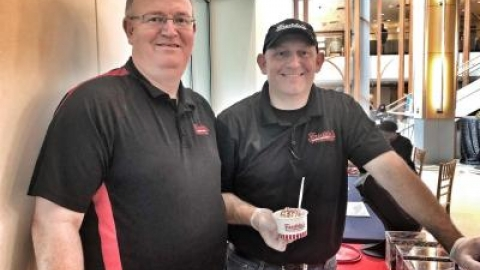 Charles Fritz and Dennis Lane of Freddy's Frozen Custard & Steakburgers