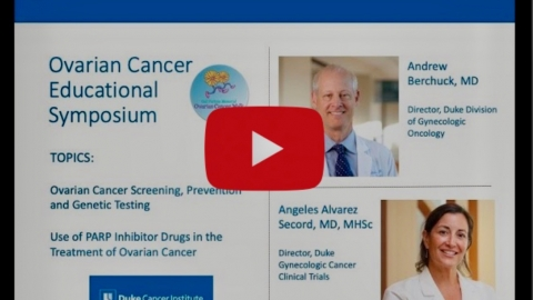 YouTube Screenshot of Ovarian cancer Symposium