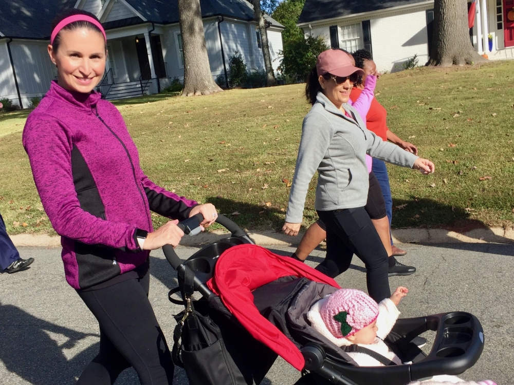 Jennifer Plichta, MD, hits the trail with her baby
