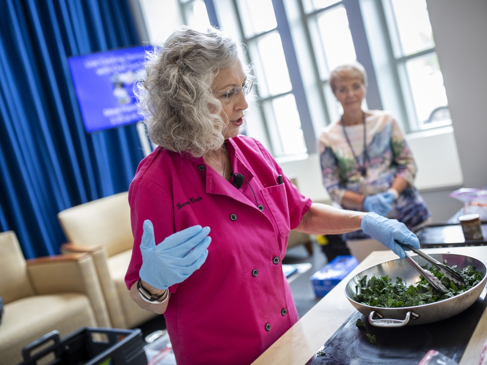 Chef Sueson Vess with Special Eats at Duke Cancer Center's Survivorship Day in 2019.