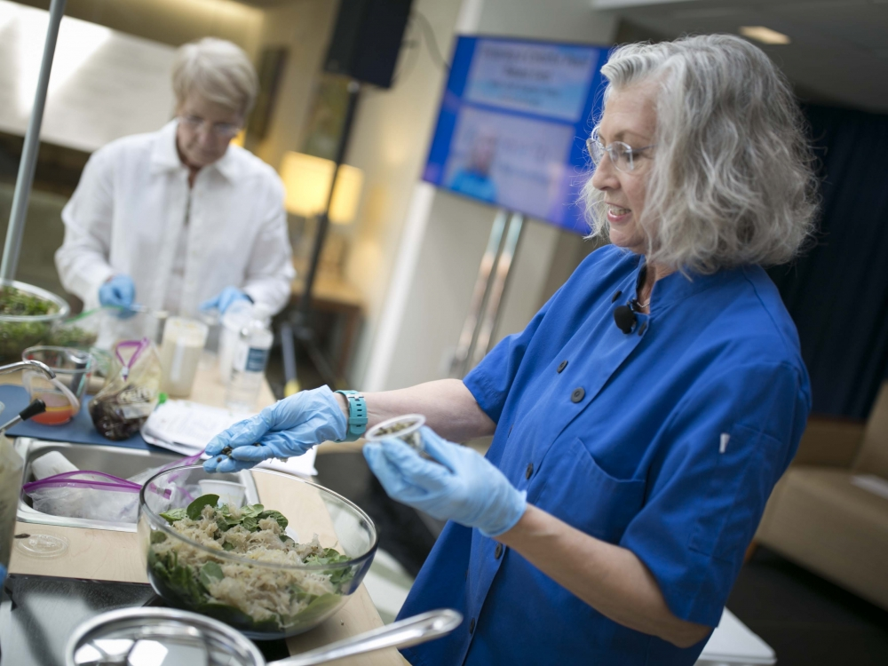 Chef Sueson Vess with Special Eats at Duke Cancer Center's Survivorship Day in 2018