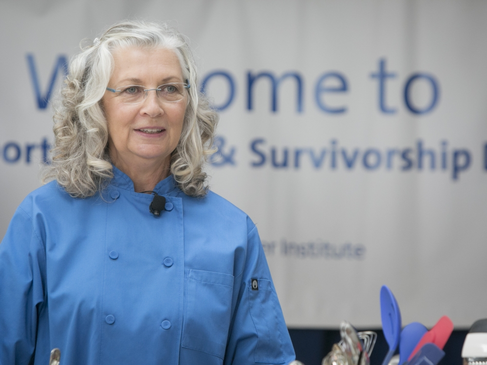 Chef Sueson Vess with Special Eats at Duke Cancer Center's Survivorship Day in 2017