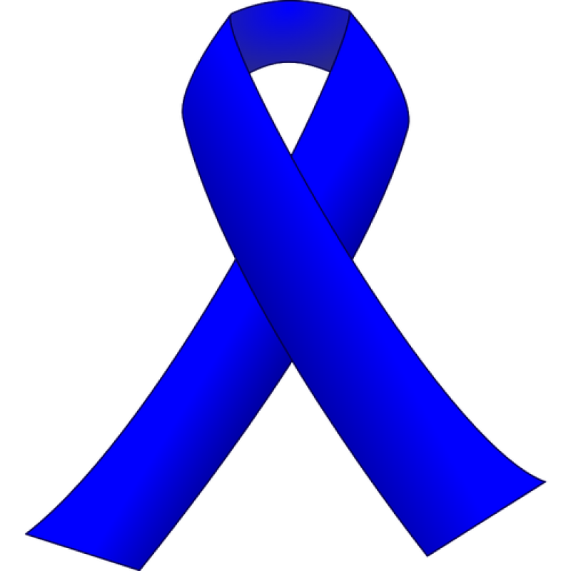 colorectal cancer awareness ribbon