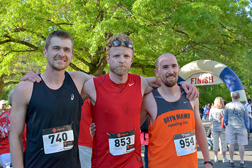 First Place: Gavin Finlay (center); Second Place: Zachary Vaslow (right); Third Place: Jonathan Stallings (left)