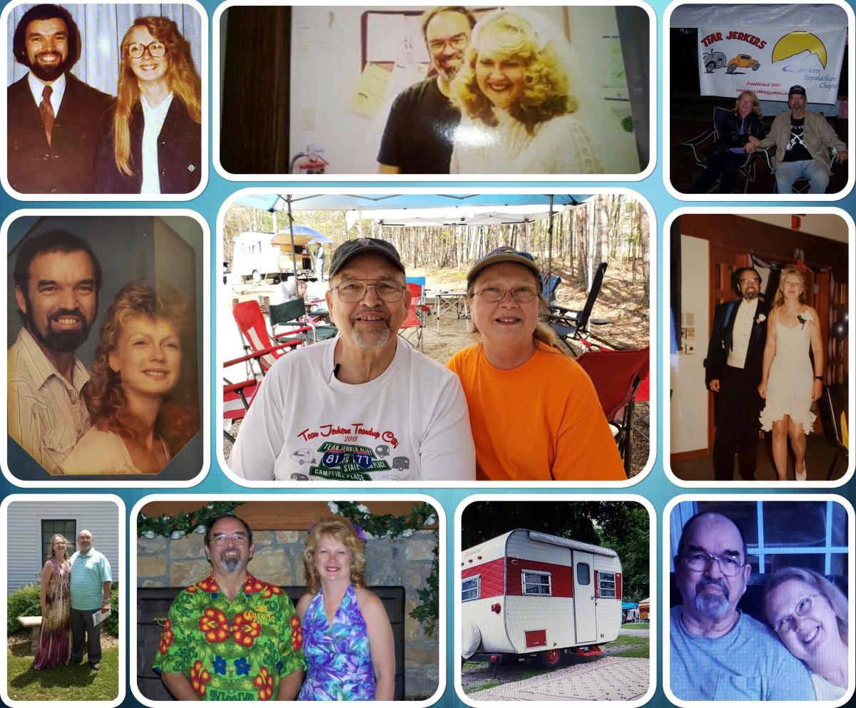 IN SICKNESS AND IN HEALTH: Karin and David Driver both grew up in Perry, New York. They met working at an insulation company their mutual friend owned and got married in 1970 (top left), and the rest is history.