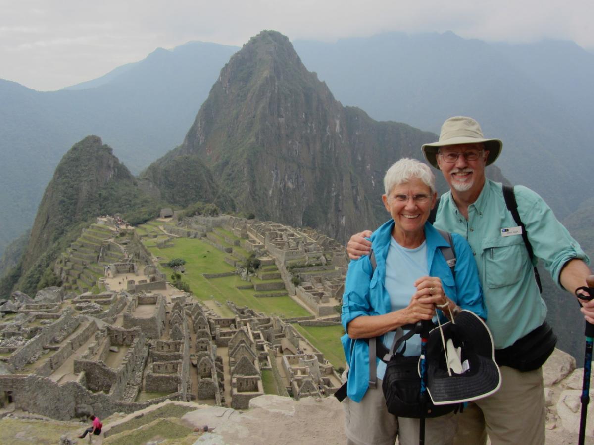 Allen and Susan Spalt at Machu Picchu, Peru.