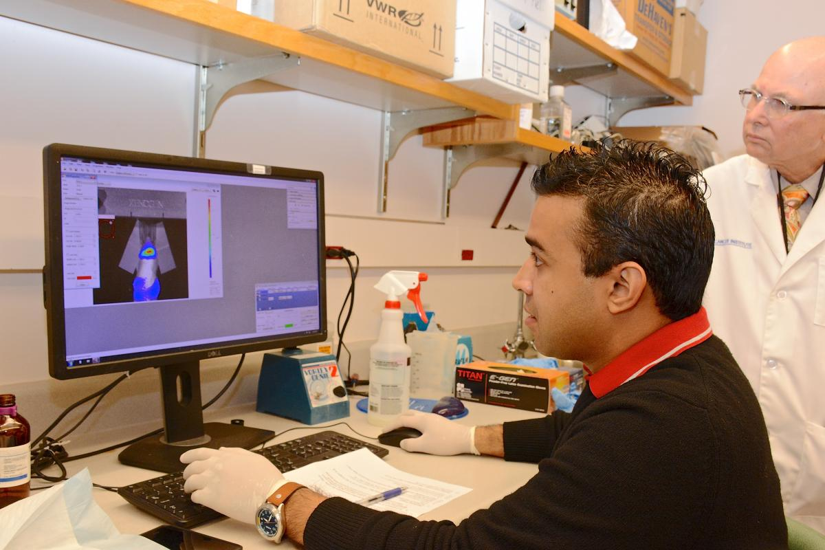 Kamesh Krishnamurthy, Duke University Medical Scientist Training Program, GS3, uses the IVIS Spectrum for high-sensitivity in vivo imaging of fluorescence and bioluminescence in measuring levels of neuro-inflamation in a mouse model.