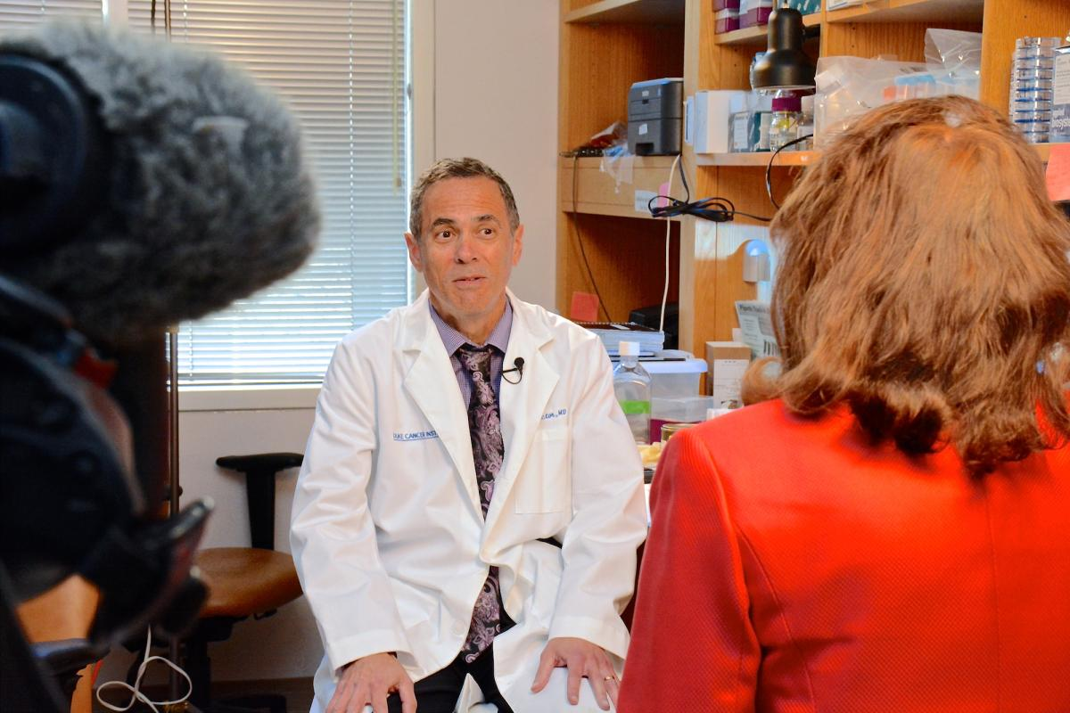 "Neil Spector, MD, a physician-scientist with the DCI, recently interviewed with UNC-TV to share his work as a breast cancer researcher. He will be featured as one of several panelists in an upcoming program, ""Cancer: Focus On Life,"" to be aired on UNC-TV on Wednesday, April 1. Spector's memoir, Gone In A Heartbeat: A Physician's Search For True Healing, was released in early February."