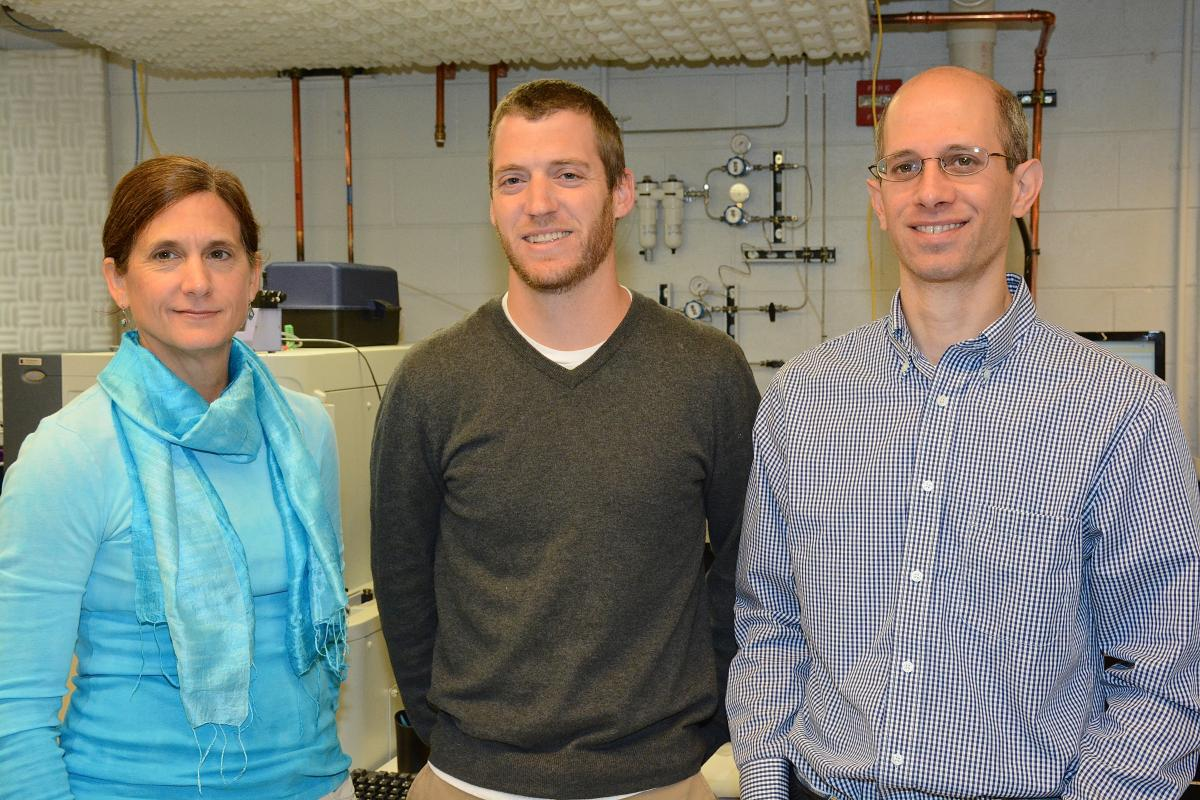 Lisa St. John Williams, laboratory analyst II; Erik Soderblom, PhD, laboratory analyst II; and Matthew W. Foster, PhD, assistant research professor.