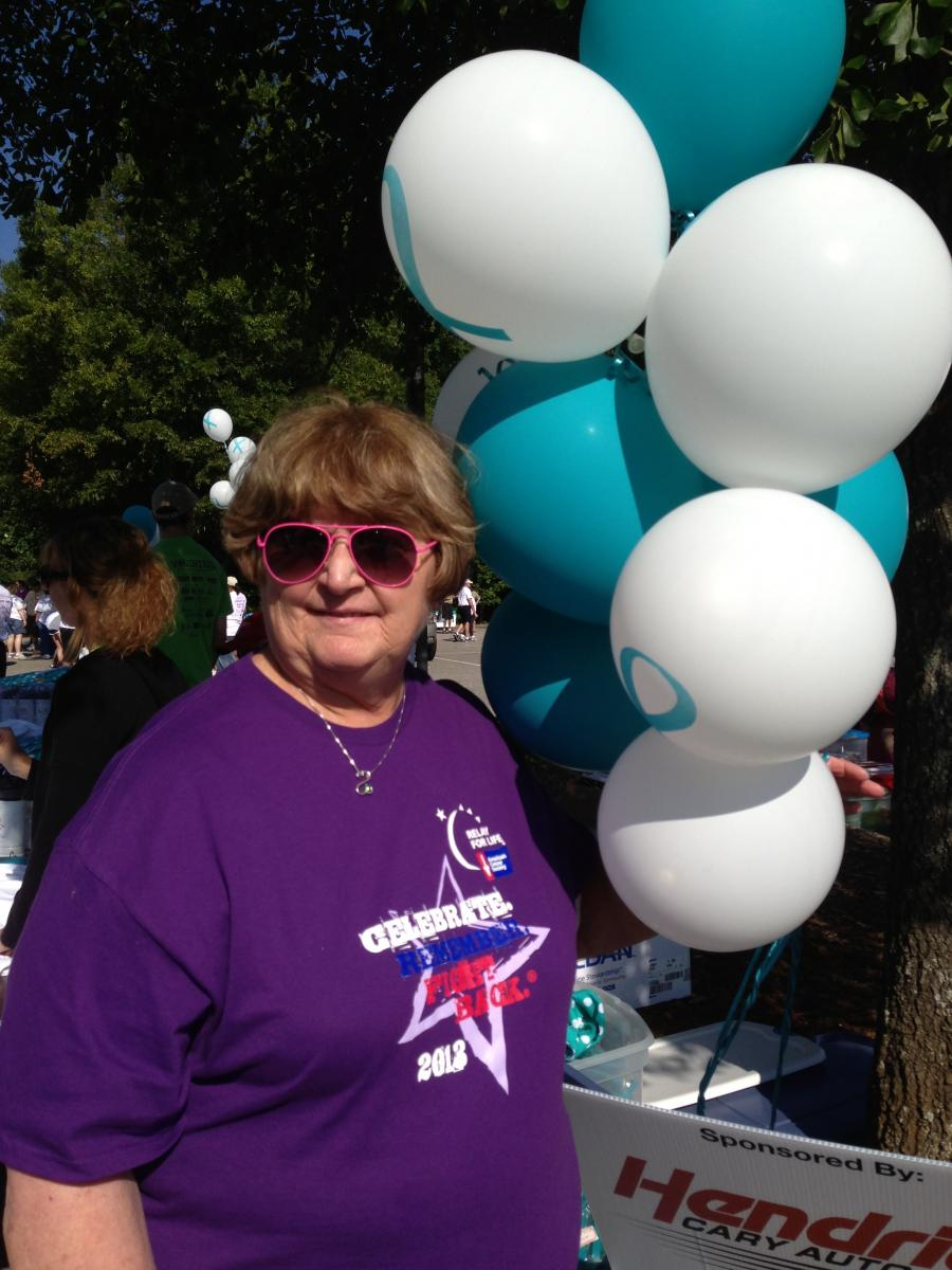 Avis Wainwright attends the Parkins Ovarian Walk every year in memory of her friend Kathy. She says the education she's received there helped her recognize her own symptoms and get diagnosed early.