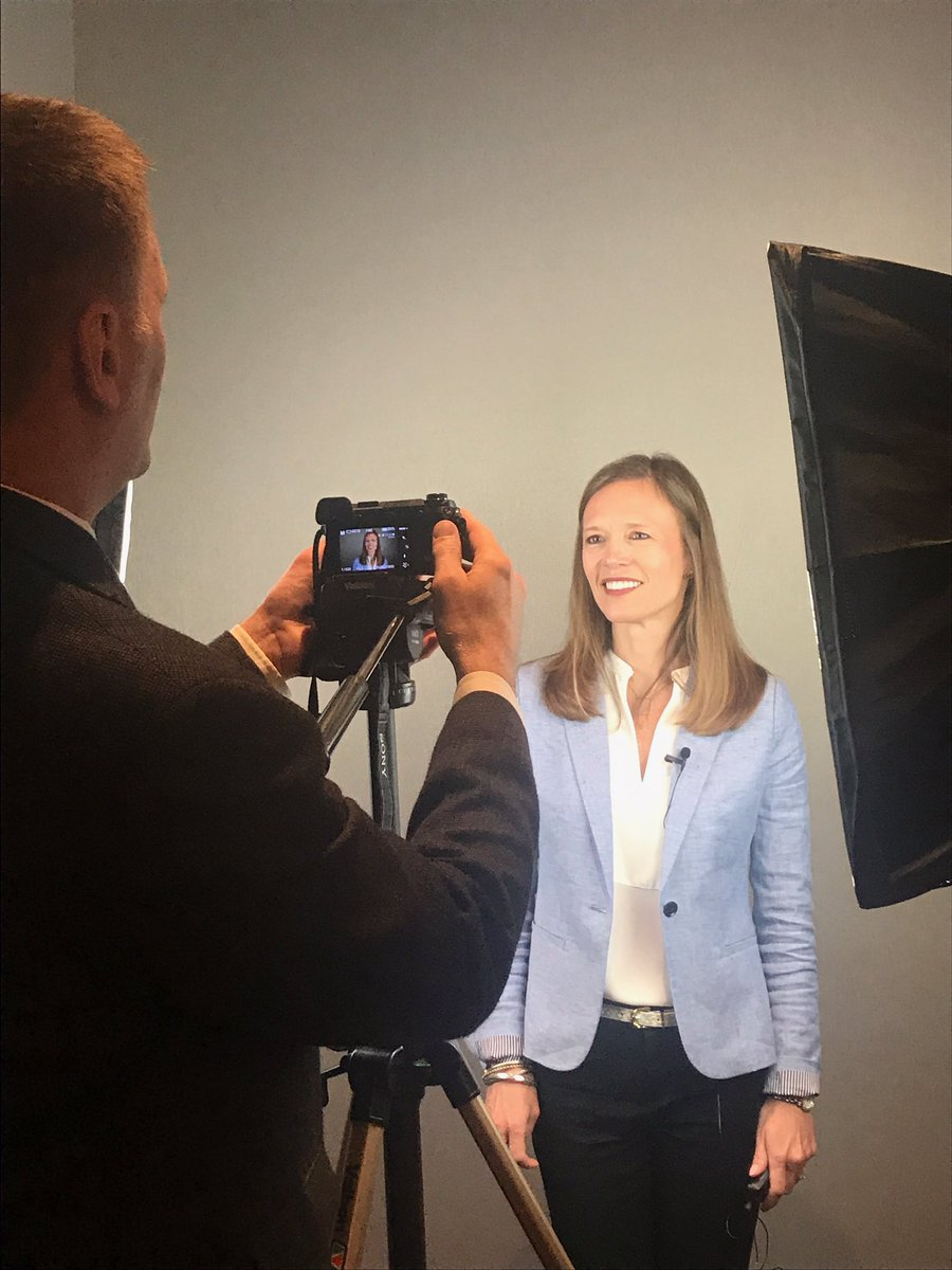 Breast oncologist Cary Anders, MD, being interviewed at ASCO 2019
