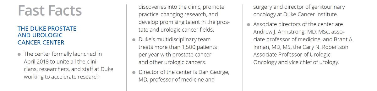 Stealing Time From Urologic Cancer   Duke Cancer Institute