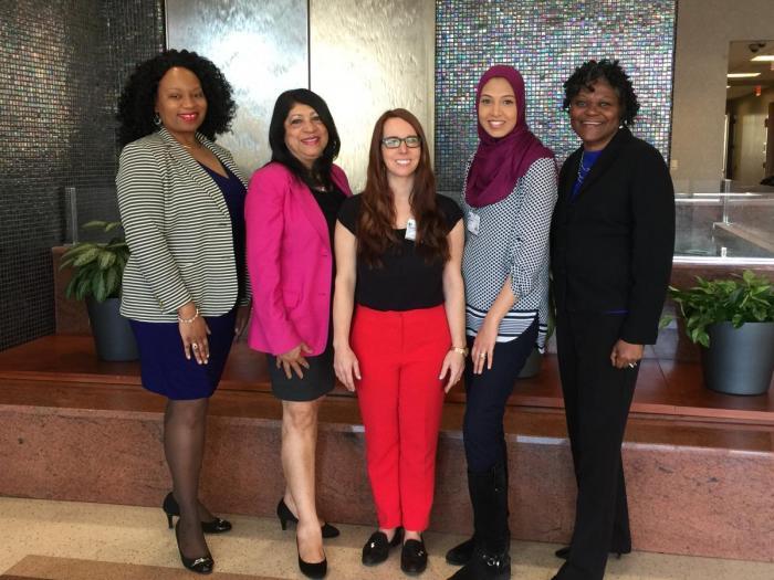 Our Team: Kearston Ingraham, MPH; Xiomara Boyce, MS; Tara Ilsley, MPH; Faiza Mustafa, MPH; and Valarie Worthy, MSN
