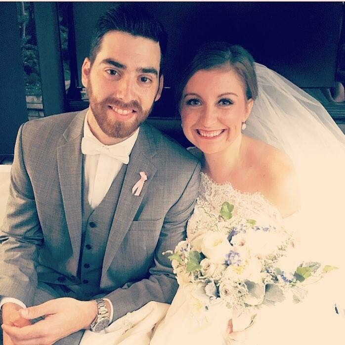Katie Yelenic Jantzi met her husband Dan in high school in Pittsburgh. His mother had passed away from breast cancer when he was in 10th grade. They first bonded over losing their moms. They married in 2016.