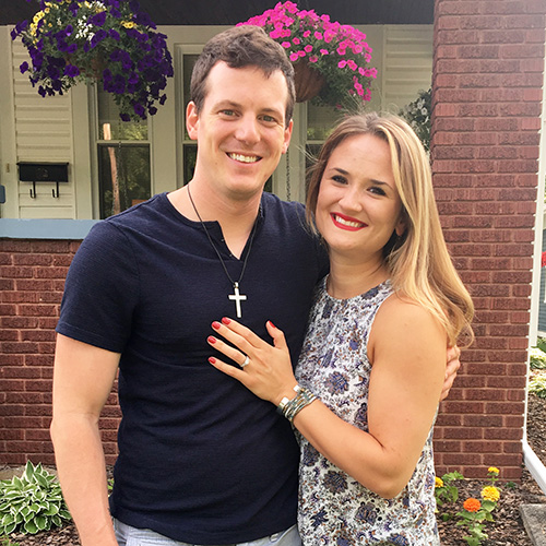 McMichael poses with his wife, Taylor, also an oncology nurse at Duke. Taylor is currently studying to become a nurse practitioner.