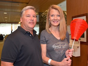 Debbie Kennon, a lymphoma survivor, signed up for her first Light the Night Walk.
