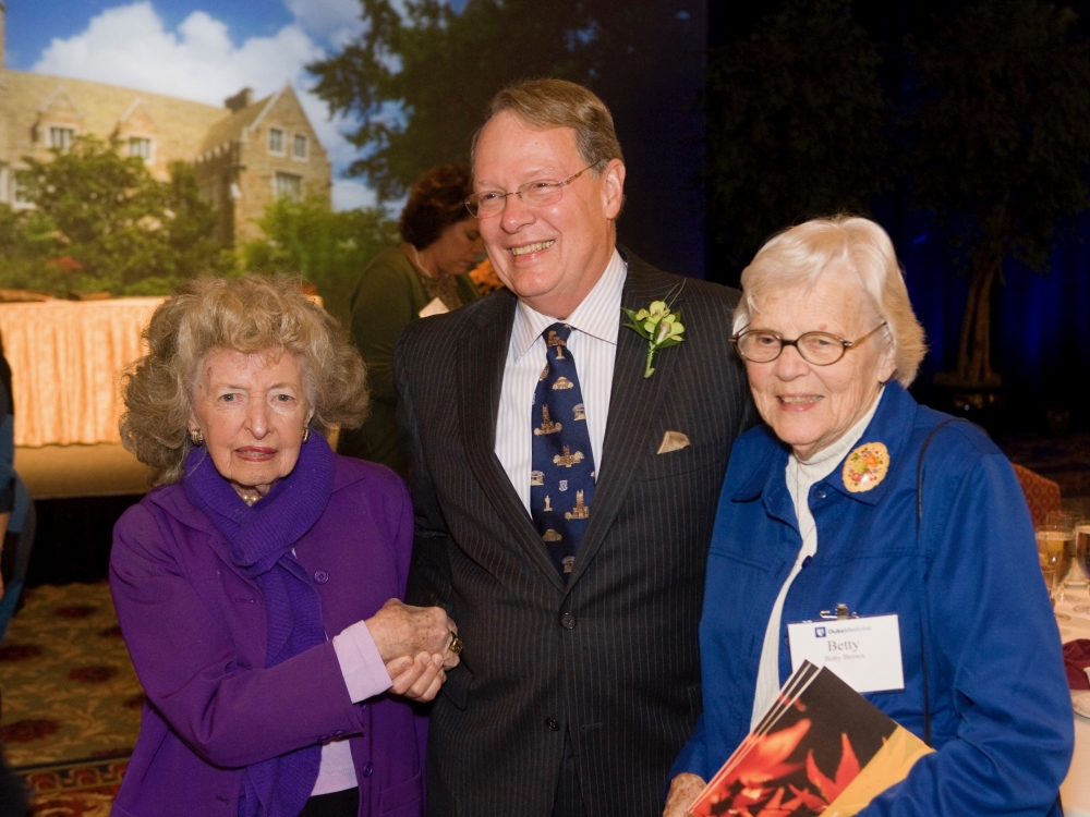 Joe Moore, MD, with Mary Duke Biddle Trent Semans (left) and his mother Betty Frances Moore Brown in 2009