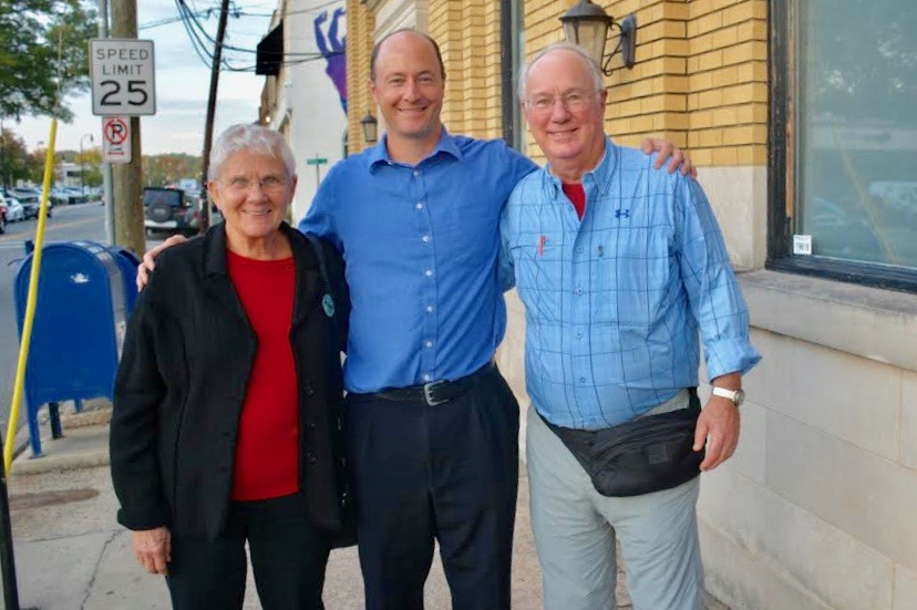 Allen and Susan Spalt with Dr. Armstrong at the 2017 November Shave Down event.