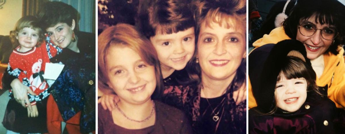 Katie and Megan Yelenic lost their mother to breast cancer in 2000 when they were only 9 and 5. These are some of the photos they hold dear.